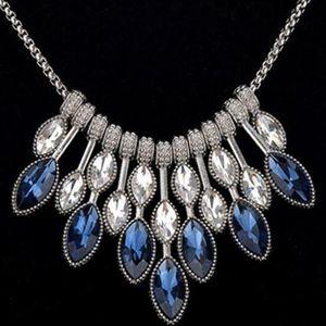 Blue Geometric pattern Choker/Necklace -